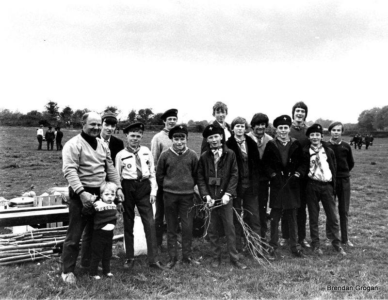 Diocesan weekend camp at Faithlegg 1970, 15th Sacred Heart unit delegation.