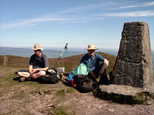 Gunslingers on the summit of Knockmealdown (795m).