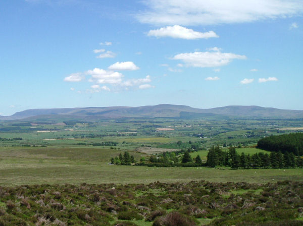 The sweep of the Comeraghs as seen from the Knockmealdowns.