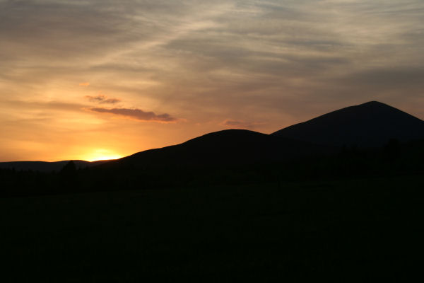 Sunset over the Knockmealdowns.