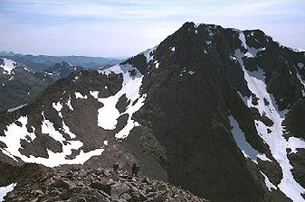 Ben Nevis from the approach to the Carn Mor Dearg arete.