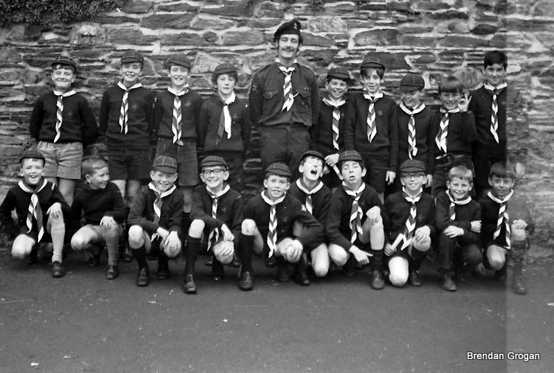 Liam Butler with a group of macaoimh, 3rd troop I think, c. 1969.....