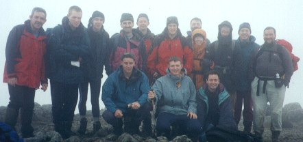 The first Munroe of the weekend by the leadership team was Stob Coire nan Lochan.